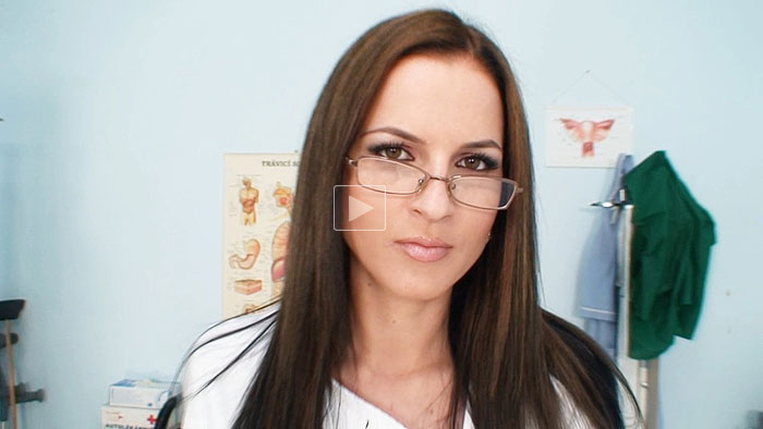 Nurse Tereza with glasses video screenshot 1