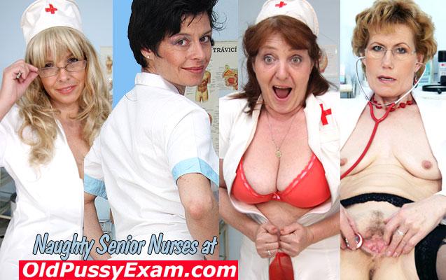 Nurse mature, senior nurses click here to visit OldPussyExam.com